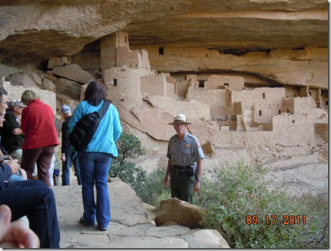 Our Guide, Ranger Kevin Lyles, at Cliff Palace.