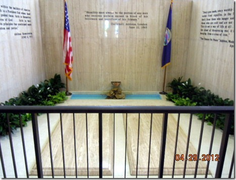 Ike and Mamie's gravesites @ Presidential Library