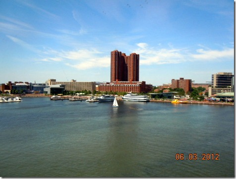 Baltimore Harbor view from Aquarium