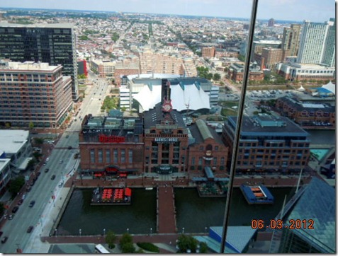 View from top of the Baltimore World Tower Building.