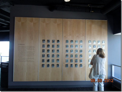 9/11 wall of Memorium for Marylanders killed that awful day.