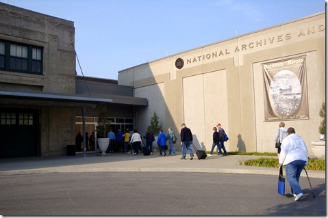 Entering the National Archives on Monday 9/24