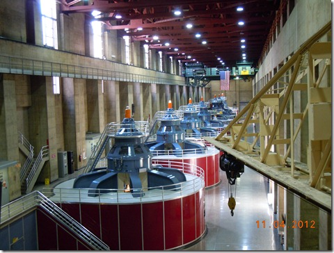The turbines on the Nevada side.