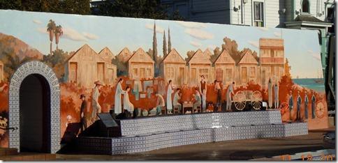 Mural in town of Ventura
