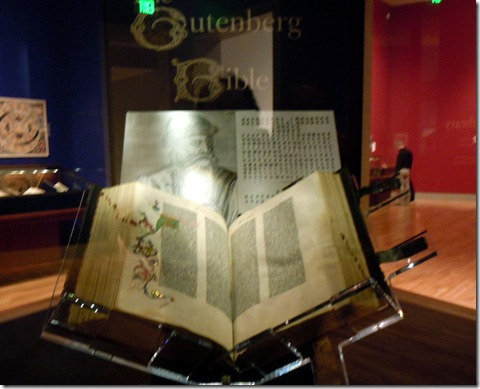 One of the 12 Gutenberg Bibles