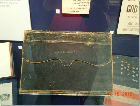 Abe Lincoln's portfolio