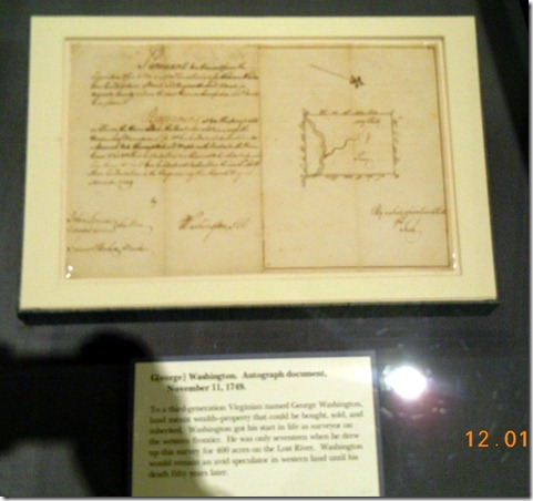 Original survey done by George Washington