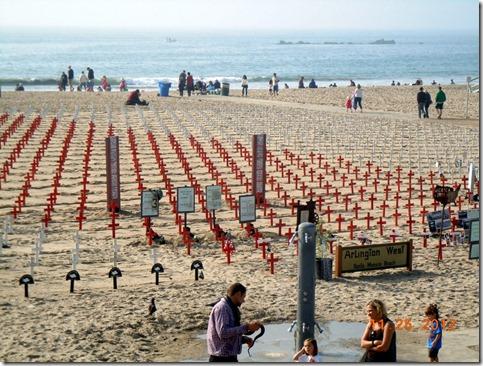 War protest on the beach @ Santa Monica Pier