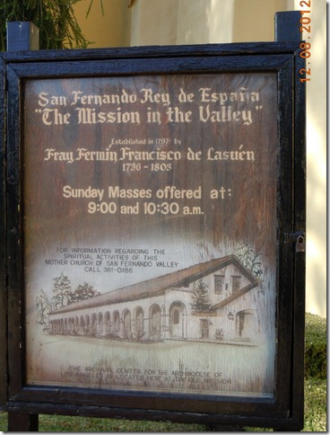 Sign for the Mission