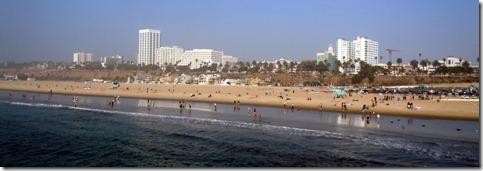Santa Monica beach fom the pier