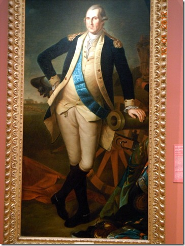 A rare portrait of George Washington without his wig