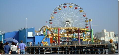 Amusement park on pier at Santa Monica