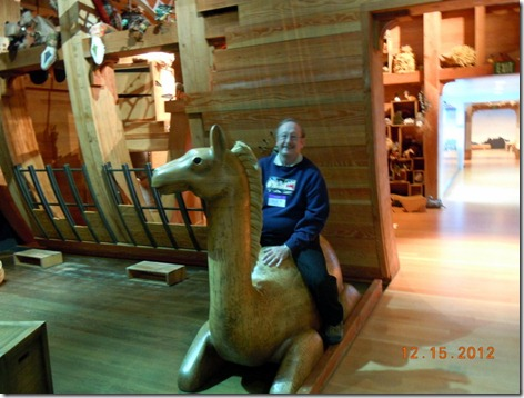 Bob riding the second camel.