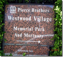 Cemetery entrance sign