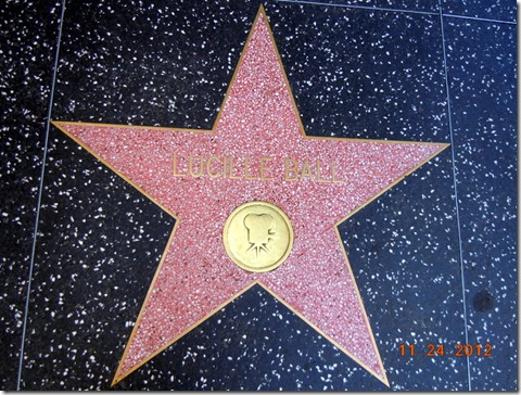 Lucy's star on Hollywood BLVD