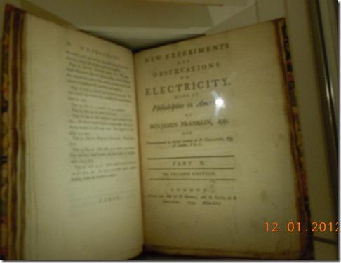 Benjamin Franklin's Electricity experiments