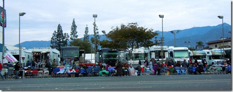 RV's at the Roses Parade