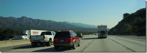 Cruising along the 210 in California