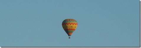 Balloon watching parade.