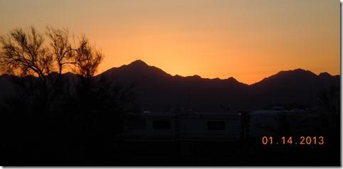 Sunset in Quartzsite