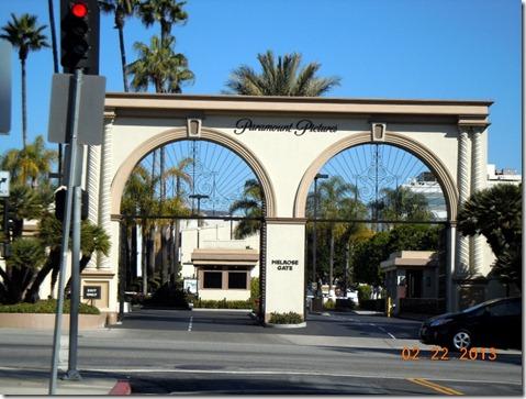 Our entrance gate on Melrose Blvd.