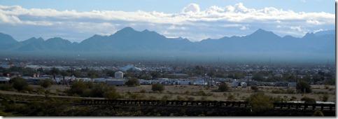 View of Quartzsite from I-10