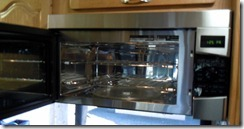 Inside new convection/microwave oven