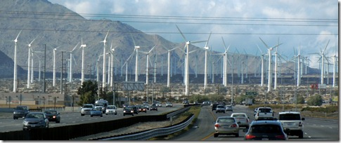 Wind farm west of Palm Springs
