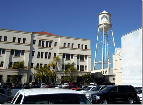 The Paramount Water Tower, overlooking the ocean parking lot.