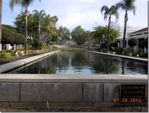 Reflecting Pool in center of the Library