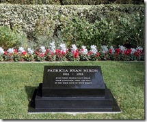 Pat Nixon's gravesite