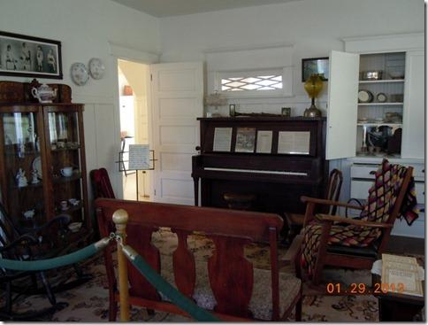 Nixon living room with original furniture
