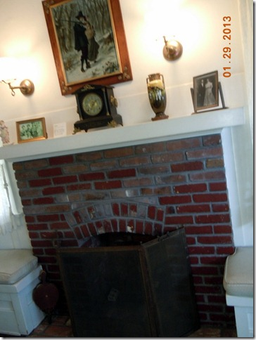 Fireplace built by Nixon's father
