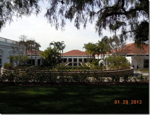 View of the Library from the house