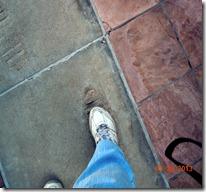 My foot in footsteps