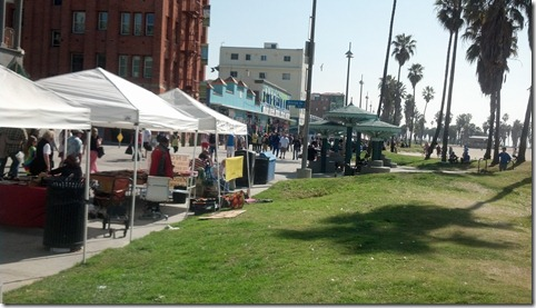 Venice Beach sidewalk sale