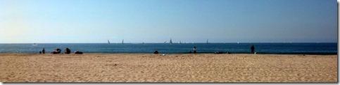 Sail boats off Venice Beach