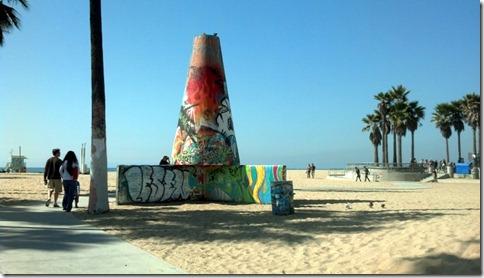 Grafitti art on the beach, Venice Beach
