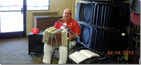Accordian player