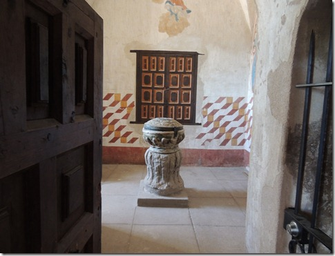 Baptismal font from the 1500's in Spain