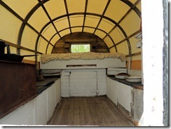 Inside the home made RV at Bair Ranch House