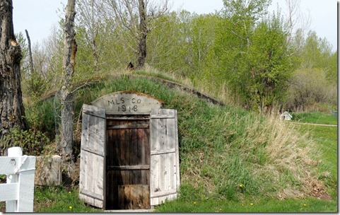 Root cellar at Bair Ranch house