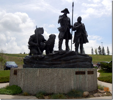 Lewis and Clark statue at Visitor Center Great Falls MT