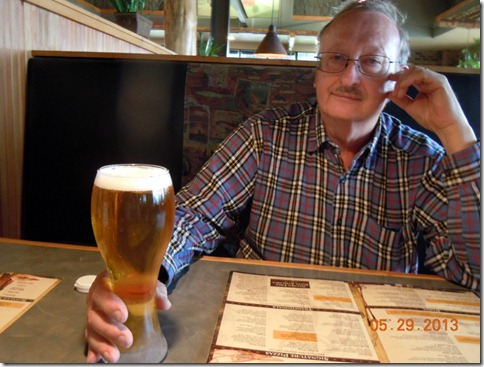 Bob with his summer beer at MacKenzie River Pizza