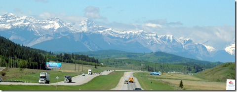 Mountain Views from TransCanada Highway
