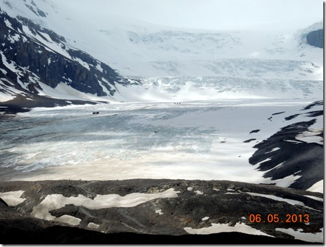 The middle of the three glaciers