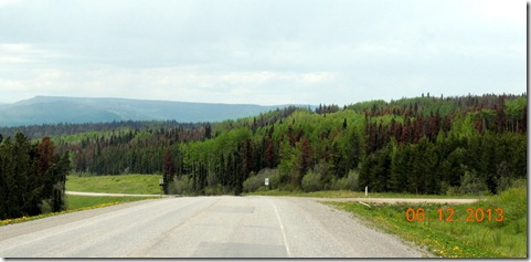 Scenery on the Alaskan Highway between Dawson Creek and Ft. Nelson