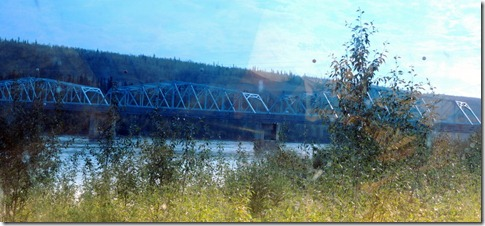 Pelly Crossing River and Bridge