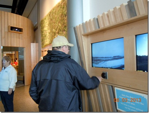 Bob doing one of the interative weather exhibits
