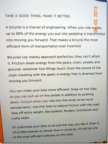 Bike exhibit